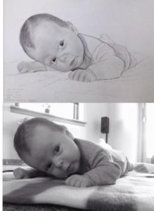 Joshua foto-tegning