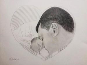 Sejr hos far. Gemt i fars hjerte for evigt <3